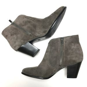 FRYE Jennifer Suede Brown Booties Heels 8